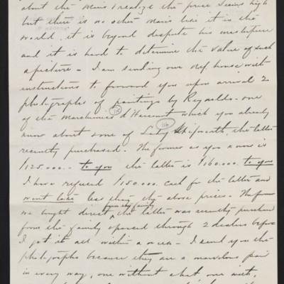 Letter from Charles S. Carstairs to [Henry Clay] Frick, 31 August 1906 [page 2 of 4]