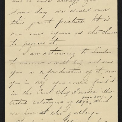 Letter from Charles S. Carstairs to [Henry Clay] Frick, 12 August 1906 [page 5 of 6]