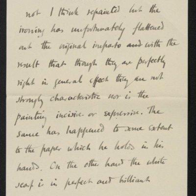 Letter from Roger Fry to Henry Clay Frick, 30 October 1911 [page 4 of 8]