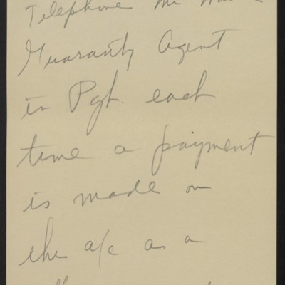 Note written by [Henry Clay Frick], [1919]