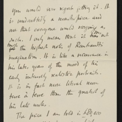 Letter from Roger Fry to Henry Clay Frick, 30 October 1911 [page 7 of 8]