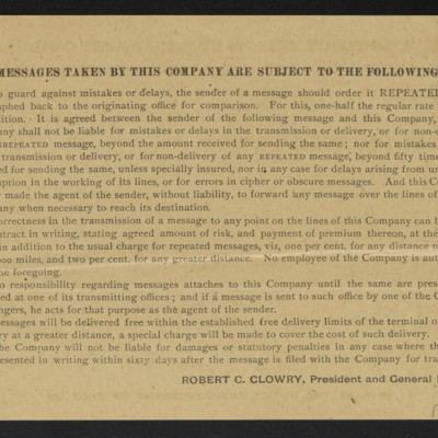 Copy of a cable from [M. Knoedler & Co.] to [Henry Clay Frick], 2 October 1909 [back]