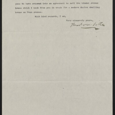 Letter from Theodore Diller to H.C. Frick, 23 April 1917 [page 2 of 2]