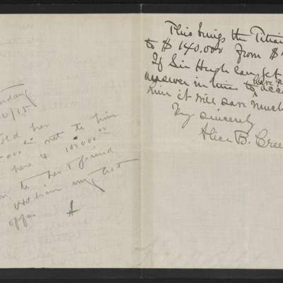 Letter from Alice B. Creelman to [H.C.] Frick, 10 April 1915 [page 2 of 2]