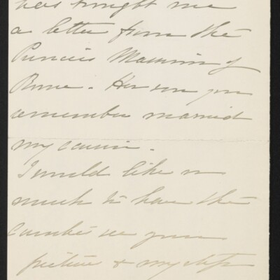 Letter from Florence Van Cortlandt Parsons to [H.C.] Frick, 4 April 1918 [page 2 of 3]