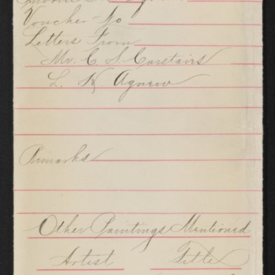 """Draft of red envelope for Constable's """"Salisbury Cathedral,"""" 1908"""