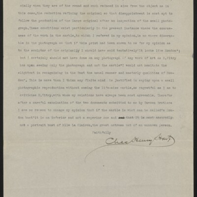 Letter from Charles Henry Hart to Henry C. Frick, 20 January 1917 [page 3 of 3]