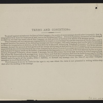 Cable from [Henry Clay] Frick to [Roger E. Fry], 31 December 1909 [back]