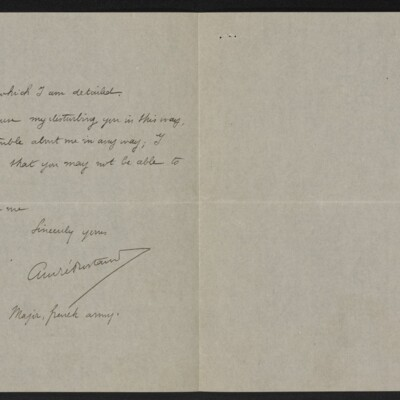 Letter from André Rostand to [Henry Clay Frick], 9 June 1918 [page 2 of 2]