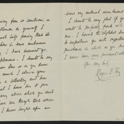 Letter from Roger E. Fry to Henry Clay Frick, 22 December 1908, Page 2 of 2