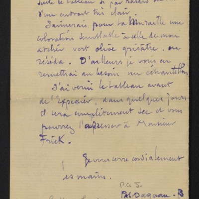Letter from Dagnan-Bouveret to Edmond Simon, 5 December 1900 [page 3 of 3]