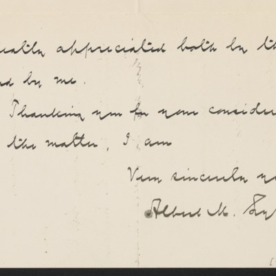 Letter from Albert M. Lythgoe to Henry Clay Frick's secretary, 17 January 1919 [page 3 of 3]