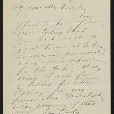 Letter from John C. Tappin to [H.C.] Frick, 25 February 1918