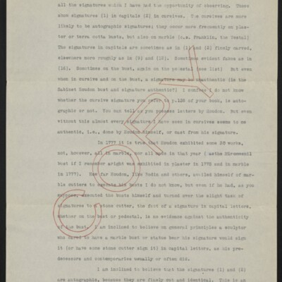 Copy of a letter from Allan Marquand to Charles Henry Hart, 18 February 1917 [page 2 of 3]