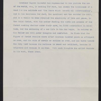 "Interpretation of Dagnan-Bouveret's ""Consolatrix Afflictorum,"" circa 1903"