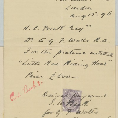 Receipt from J.W. Beck, 15 August 1896