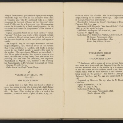 Catalogue of the Henry C. Frick Collection of Paintings, 1908 [pages 36-37]