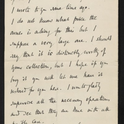 Letter from Roger E. Fry to Henry Clay Frick, circa 3 March 1911 [page 3 of 3]