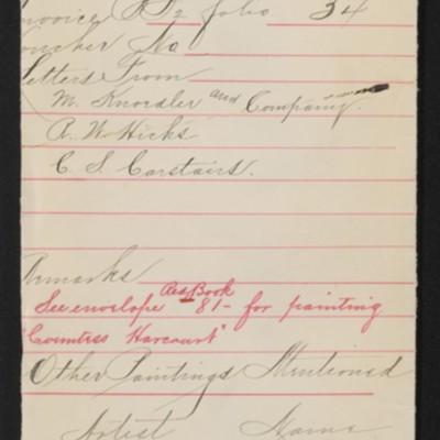"Draft envelope for Reynolds' ""Lady Skipwith,"" [1906]"