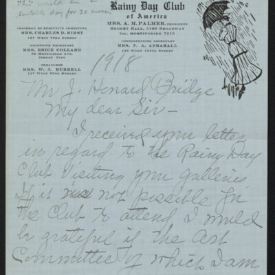 Letter from Edith M. Bridge to J. Howard Bridge, 26 February 1918 [page 1 of 4]