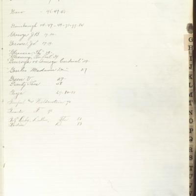Bill Book No. 2, Index G