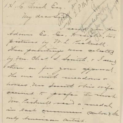 Letter from Samuel P. Avery to Henry Clay Frick, 2 January 1896