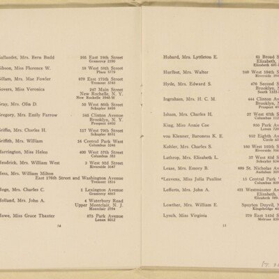 Directory of the New York Browning Society, Tenth Season, 1916-1917 [page 9 of 23]