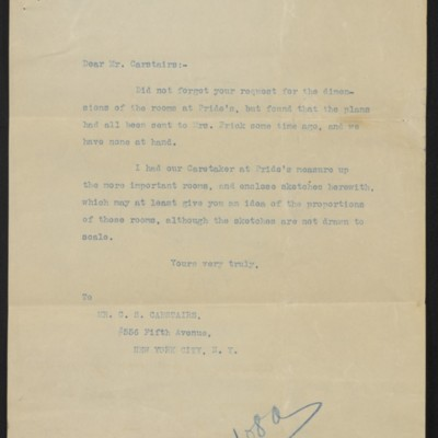 Letter from F.W. McElroy to Charles S. Carstairs, with enclosures, 8 March 1912