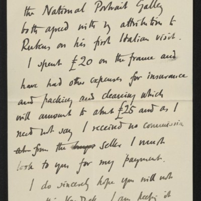 Letter from Roger Fry to [H.C.] Frick, 10 July 1911 [page 5 of 8]