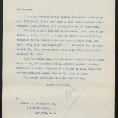 Letter from W.J. Naughton to M. Knoedler & Co., 11 June 1918