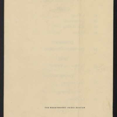 Checklist for Loan Exhibition of Pictures from the Collecton of Henry C. Frick, Museum of Fine Arts, Boston, 1-15 December 1910 [back cover]