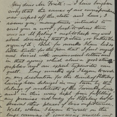 Letter from Francis Davis Millet to Henry Clay Frick, 25 October 1897