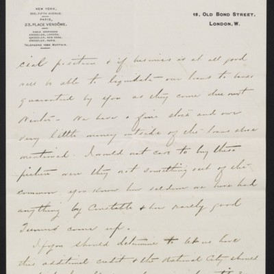 Letter from Charles S. Carstairs to [Henry Clay] Frick, 9 June 1908 [page 3 of 4]