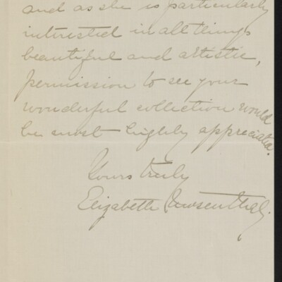 Letter from Elizabeth Mosenthal to [H.C.] Frick, 21 April 1918 [page 2 of 2]