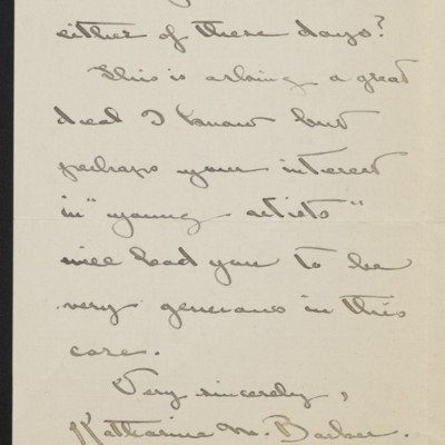 Letter from Katharine M. Barker to [H.C.] Frick, 15 January 1919 [page 3 of 3]