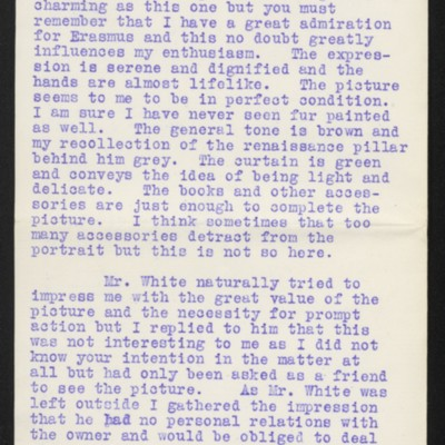 Letter from James Dunn to H.C. Frick, 13 November 1912 [page 2 of 3]