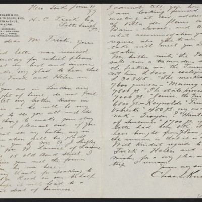Letter from Charles L. Knoedler to Henry Clay Frick, 11 June 1897
