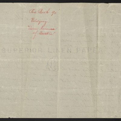 Letter from Charles Carstairs to [Henry Clay] Frick, 3 November 1908 [back of page 3]