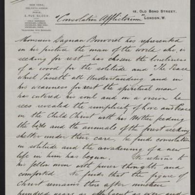 """Interpretation of Dagnan-Bouveret's """"Consolatrix Afflictorum,"""" circa 1903 [page 1 of 2]"""