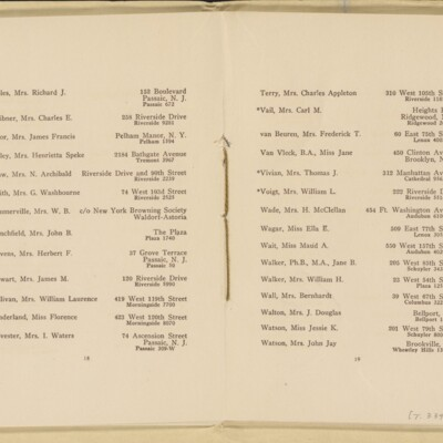 Directory of the New York Browning Society, Tenth Season, 1916-1917 [page 11 of 23]