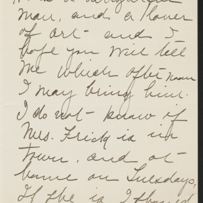 Letter from Kate Simpson to [H.C.] Frick, 26 January 1919 [page 2 of 3]