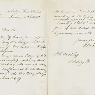 Letter from Obach & Co. to Henry Clay Frick, 24 September 1898
