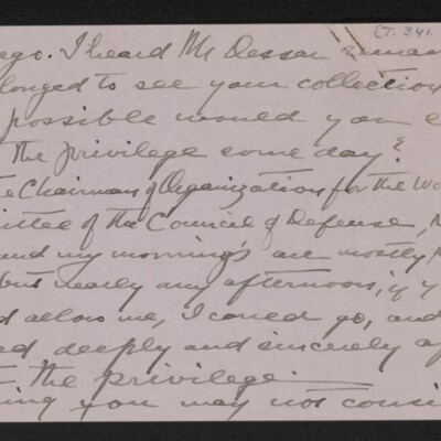 Letter from Emily Palmer Cape to Henry C. Frick, 4 March 1918 [page 2 of 3]