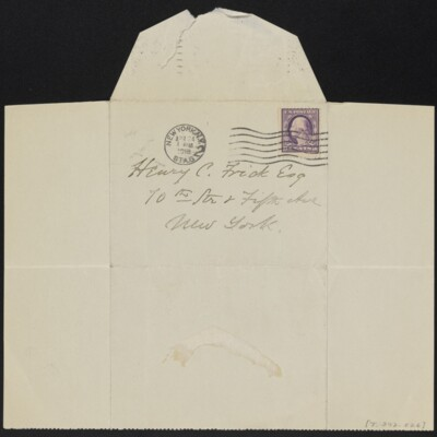 Letter from Cornelia J. Chadwick to Henry C. Frick, 24 April 1918 [back]