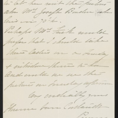Letter from Florence Van Cortlandt Parsons to [H.C.] Frick, 4 April 1918 [page 3 of 3]