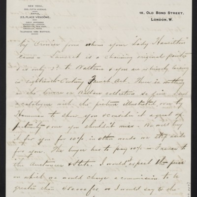 Letter from Charles Carstairs to [Henry Clay] Frick, 13 November 1908 [page 3 of 4]