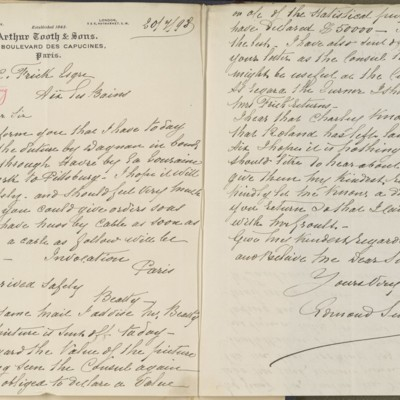 Letter from Edmond Simon to Henry Clay Frick, 20 July 1898