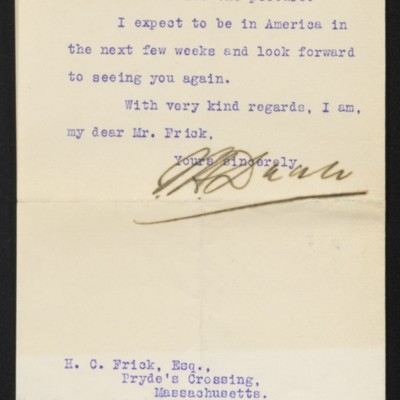 Letter from J.H. Dunn to H.C. Frick, 30 October 1912 [page 2 of 2]