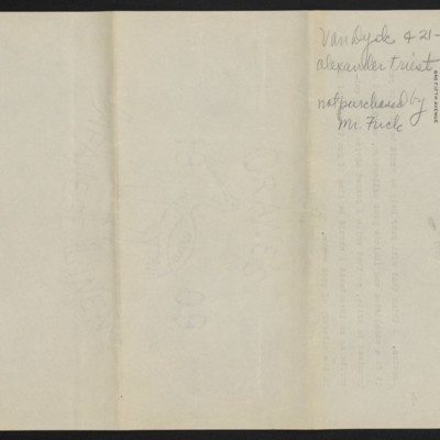 Copy of a letter from Roger Fry to H.C. Frick, 10 July 1911 [back of page 3]