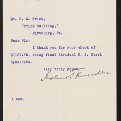 Letter from Roland F. Knoedler to Henry Clay Frick, 6 May 1903